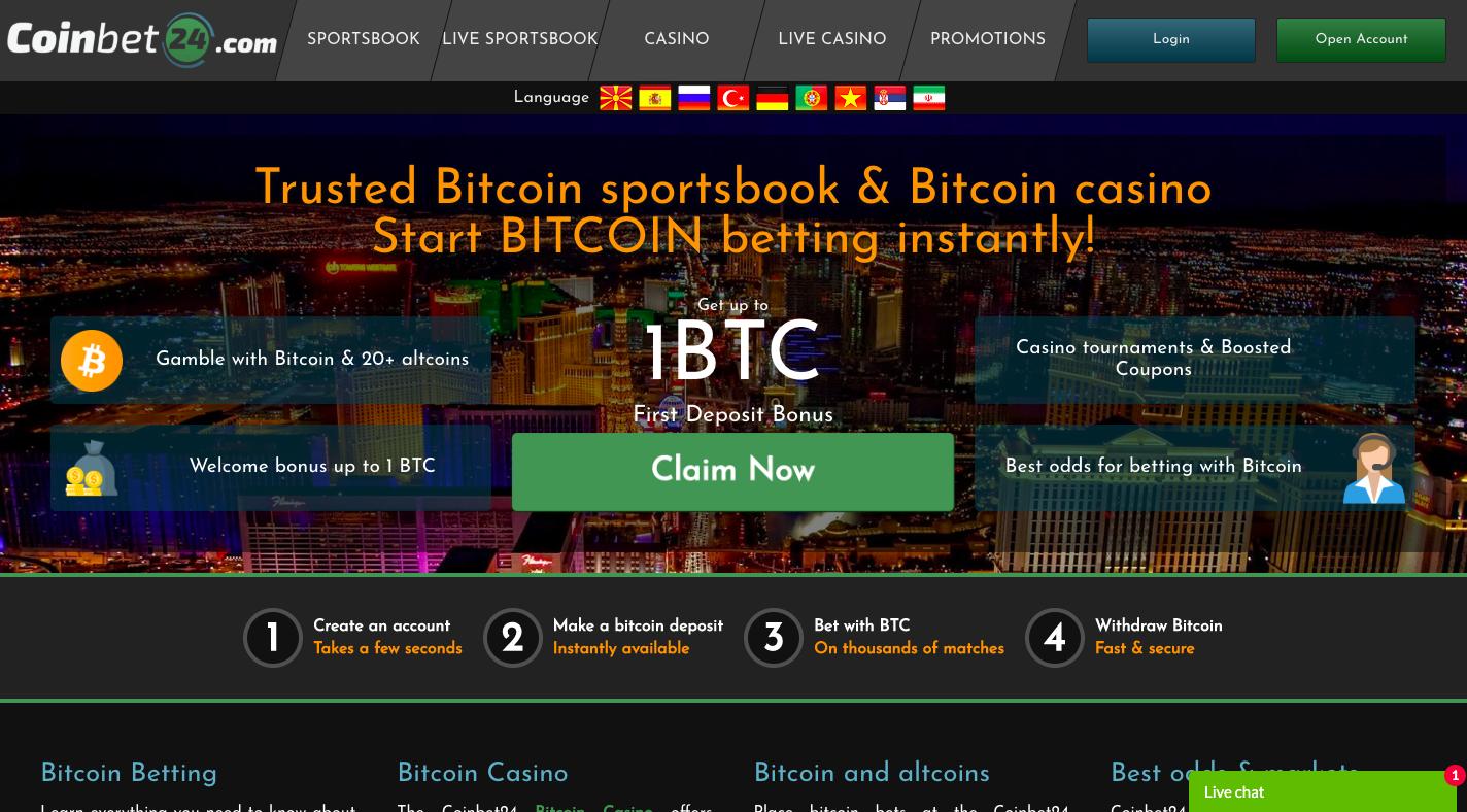 Btc casino sign up bonus